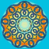 Mandala tiré par la main de griffonnage de vecteur Photos libres de droits