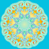Mandala tiré par la main de griffonnage de vecteur Images stock