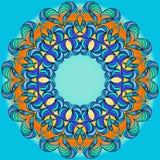 Mandala tiré par la main de griffonnage de vecteur Photographie stock libre de droits