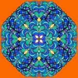 Mandala tiré par la main de griffonnage de vecteur Images libres de droits