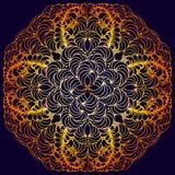 Mandala tiré par la main de griffonnage de vecteur Image libre de droits