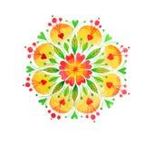 Mandala tiré par la main de nature de coeur Images libres de droits