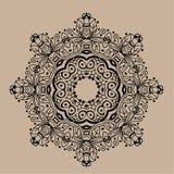 Mandala tiré par la main de zentangle de vecteur - peut être employé comme page de livre de coloriage pour des adultes, carte, in Photographie stock libre de droits