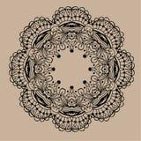 Mandala tiré par la main de zentangle de vecteur - peut être employé comme page de livre de coloriage pour des adultes, carte, in Photos stock