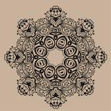 Mandala tiré par la main de zentangle de vecteur - peut être employé comme page de livre de coloriage pour des adultes, carte, in Images libres de droits