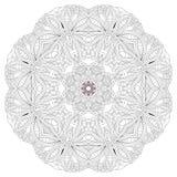Mandala tiré par la main de zentangle pour la page de coloration illustration libre de droits