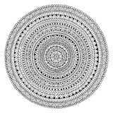 Mandala tirada à mão Cópia circular Motivos étnicos e tribais Foto de Stock
