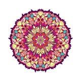 Mandala tirada mão de paisley do indiano Ilustração do vetor Fotografia de Stock Royalty Free
