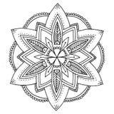 Mandala to color. Compass designed Mandala to color Royalty Free Stock Image