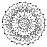 Mandala to color. Compass designed Mandala to color Royalty Free Stock Photography