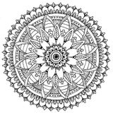 Mandala to color. Compass doodle designed Mandala to color Royalty Free Stock Image