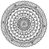 Mandala to color. Compass doodle designed Mandala to color Stock Photography