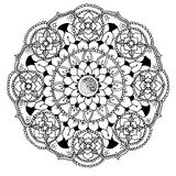 Mandala to color. Compass doodle designed Mandala to color Stock Photos