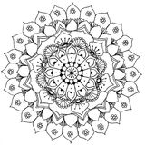 Mandala to color. Compass doodle designed Mandala to color Royalty Free Stock Photo