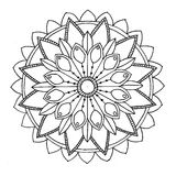 Mandala to color Royalty Free Stock Images