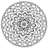 Mandala to color royalty free stock photography