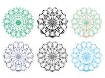Mandala tracery Stock Photo