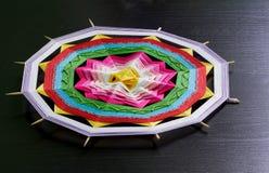 Mandala tricottata Fotografia Stock