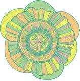 Mandala tropical exotique de fleur - élément d'isolement graphi de vecteur Photographie stock