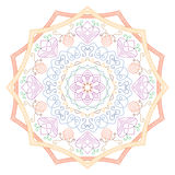 mandala Uitstekend Rond Ornamentpatroon Islamitisch, Arabisch, Indisch Royalty-vrije Stock Afbeelding