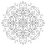 mandala Uitstekend Rond Ornamentpatroon Islamitisch, Arabisch, Indisch vector illustratie