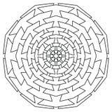 mandala Uitstekend Rond Ornamentpatroon Islamitisch, Arabisch, Indisch stock illustratie