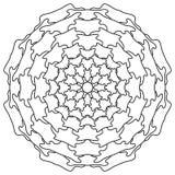 mandala Uitstekend Rond Ornamentpatroon Islamitisch, Arabisch, Indisch Stock Afbeeldingen