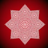 mandala ult cdrgeometric εικόνα mandala στο κόκκινο υπόβαθρο Στοκ Εικόνες