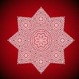 Mandala ult cdrgeometric Mandalabild auf rotem Hintergrund Stockbilder
