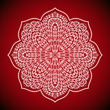 Mandala ult cdrgeometric Mandalabild auf rotem Hintergrund Stockbild