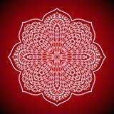 mandala ult immagine cdrgeometric della mandala su fondo rosso Immagine Stock