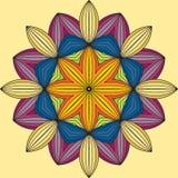 mandala Um ornamento circular, teste padrão Fotos de Stock Royalty Free