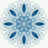 mandala Um ornamento circular, teste padrão snowflake Fotografia de Stock Royalty Free