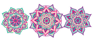 Mandala ustawiający Obraz Royalty Free