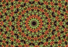 Mandala van de appel royalty-vrije illustratie