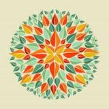 Mandala van de bladerenyoga stock illustratie