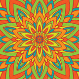 Mandala van de cirkelbloem Royalty-vrije Stock Afbeelding