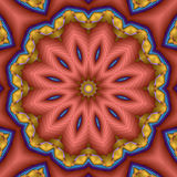 Mandala van de de sterbloem van het kompas Royalty-vrije Stock Afbeelding