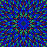 Mandala van de gebrandschilderd glasbloem stock illustratie
