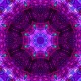 Mandala van de de symmetrie futuristische energie van de caleidoscoop digitale abstracte stijl moderne, oosterse moderne magisch vector illustratie
