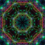 Mandala van de de symmetrie futuristische energie van de caleidoscoop digitale abstracte stijl moderne unieke, oosterse moderne m vector illustratie