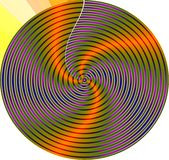 Mandala van de werveling Stock Foto