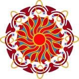 Mandala van de zon Royalty-vrije Stock Fotografie