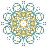Mandala variopinta araba Ornamenti tribali etnici immagini stock libere da diritti
