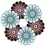 Mandala variopinta araba Ornamenti tribali etnici fotografie stock libere da diritti