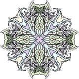 Mandala variopinta con gli elementi floreali Fotografia Stock