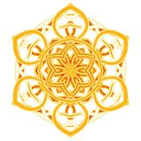 Mandala variopinta di Aribic Ornamenti tribali etnici fotografia stock