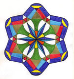Mandala variopinta di pace   Immagine Stock