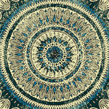 Mandala. Vector background. Green, and blue colors. The circular pattern. Texture. Vintage Stock Image