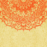 Mandala. Vector background. Mandala. Old background. Empty space for your text. Grunge Royalty Free Stock Photo
